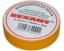 Изолента 15мм х 20м желтая REXANT