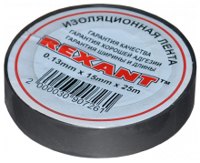 Изолента 15мм х 25м серая REXANT