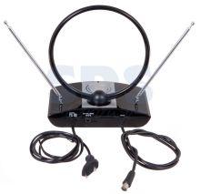 Комнатная антенна REXANT RX-958 VHF, UHF, FM, 40-862 MHz с усилителем 42dB