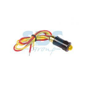 Желтый малый индикатор D8 12В с проводом (WL-04)