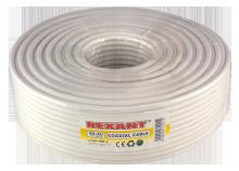 Коаксиальный кабель RG-6.75 Ом.100м.Цвет-Белый.Rexant