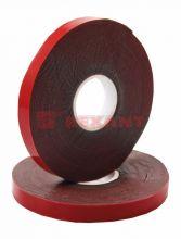 Двухсторонний скотч, красного цвета на серой основе, 9мм, 5метров REXANT