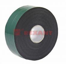 Двухсторонний скотч, зеленого цвета на черной основе, 30мм, 5метров REXANT