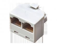 Компьютерный двойник (штекер - 2 гнезда) 8P-8C REXANT