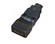 ПЕРЕХОДНИК шт.HDMI - гн.HDMI поворотный GOLD REXANT
